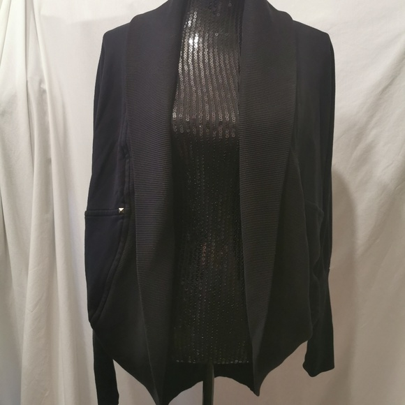 Wilfred Tops - Wilfred Black Open Cocoon Cardigan Size Medium